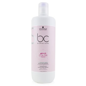 BC Bonacure pH 4.5 Color Freeze Silver Micellar Shampoo (For Grey & Lightened Hair) (1000ml/33.8oz)