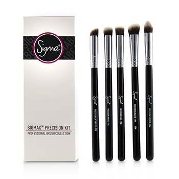 Sigma BeautySigmax Precision Kit Professional Brush Collection - # Black 5pcs