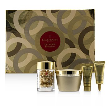 Ceramide Premiere Intense Moisture and Renewal Set: Cream SPF30 50ml +Capsules Serum 14ml+ Overnight Cream 5ml+ Eye Cream 5ml (4pcs)