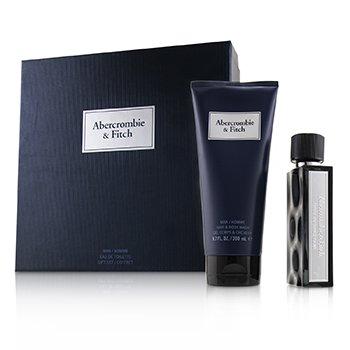 First Instinct Blue Coffret: Eau De Toilette Spray 50ml/1.7oz + Hair & Body Wash 200ml/6.7oz (2pcs)