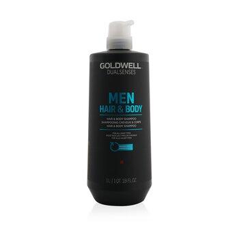 Dual Senses Men Hair & Body Shampoo (For All Hair Types) (1000ml/33.8oz)