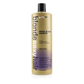 Blonde Sexy Hair Bright Blonde Violet Shampoo (For Blonde, Highlighted and Silver Hair) (1000ml/33.8oz)