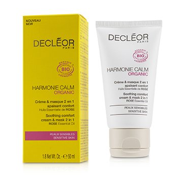 Harmonie Calm Organic Soothing Comfort Cream & Mask 2 In 1 - For Sensitive Skin (50ml/1.8oz)