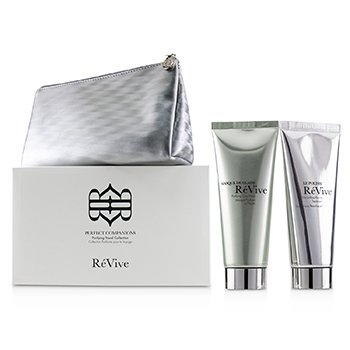 Perfect Companions Purifying Travel Collection: Purifying Clay Mask 75g + Micro-Resurfacing Treatment 75g (2pcs+1bag)