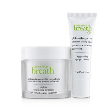 Take A Deep Breath Oxygenating Face & Eye Duo: Face Gel Cream 60ml + Eye Gel Cream 15ml (2pcs)