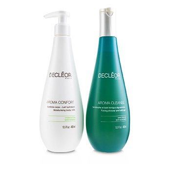 Caring Body Duo : Aroma Cleanse Toning Shower & Bath Gel 400ml + Aroma Confort Moisturising Body Milk 400m (2pcs)