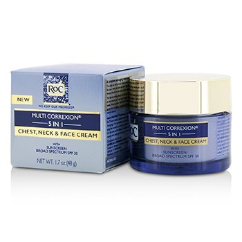 Multi Correxion 5 in 1 Chest, Neck & Face Cream With Sunscreen Broad Spectrum SPF30 (Exp. Date: 08/2019) (50ml/1.7oz)