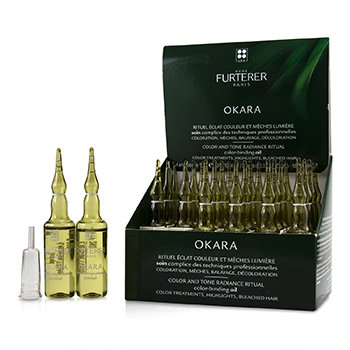 Okara Color and Tone Radiance Ritual Color-Binding Oil (Color Treatments, Highlights, Bleached Hair) (24x10ml/0.33oz)
