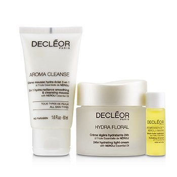 Stop.Breathe.Relax Holiday Kit:Cleansing Mousse 50ml+ Hydrating Oil Serum 5ml+ 24hr Hydrating Light Cream 50ml (3pcs)