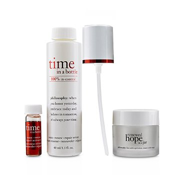 Hydrating & Glow Renewing Duo: Time In A Bottle Serum+Activator+Renewed Hope In A Jar (3pcs)