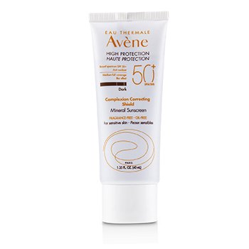 Complexion Correcting Shield Mineral Sunscreen SPF 50 - #Dark (For Sensitive Skin) - Exp. Date: 01/2020 (40ml/1.35oz)