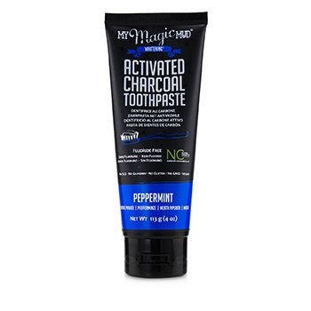 Activated Charcoal Toothpaste (Fluoride-Free) - Peppermint (113g/4oz)