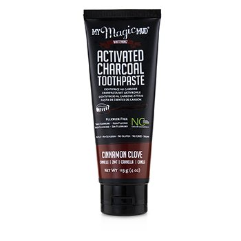 Activated Charcoal Toothpaste (Fluoride-Free) - Cinnamon Clove (113g/4oz)