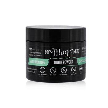 Activated Charcoal Whitening Tooth Powder - Spearmint (30g/1.06oz)