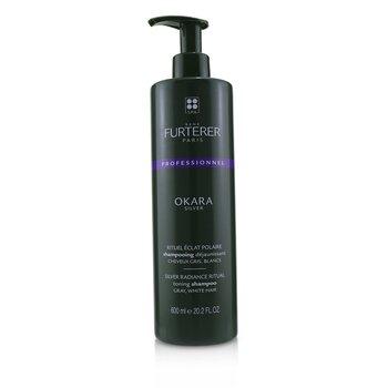 Okara Silver Silver Radiance Ritual Toning Shampoo - Gray, White Hair (Salon Product) (600ml/20.2oz)