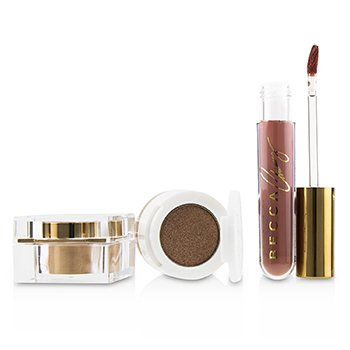BECCA x Chrissy Cravings Glow Kitchen Kit (1x Eyeshadow, 1x Liquid Lipstick, 1x Highlighter) (3pcs)