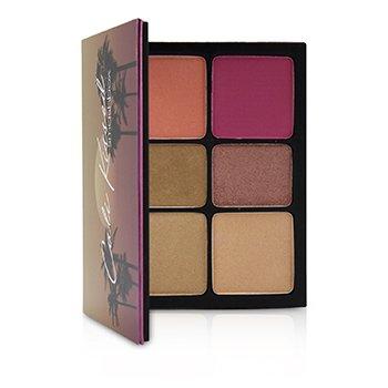 Cali Kissed Highlight & Blush Palette (4x Shimmering Highlight, 2x Matte Blush) (24g/0.84oz)