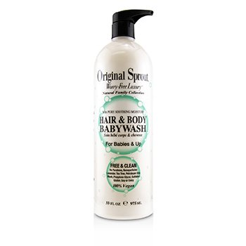 Natural Family Collection Hair & Body Baby Wash With Pure Soothing Moisture (For Babies & Up) (975ml/33oz)