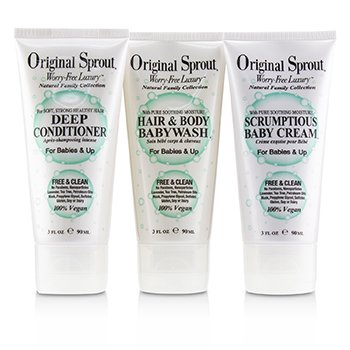 Travel Trio Set: 1x Deep Conditioner 90ml+1x Hair and Body Babywash 90ml +1x Scrumptious Baby Cream 90ml (For Babies & Up) (3pcs)