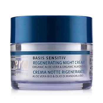 Basis Sensitiv Regenerating Night Cream - Organic Aloe Vera & Organic Almond Oil (For All Skin Types) (50ml/1.6oz)