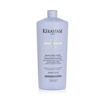 Blond Absolu Bain Ultra-Violet Anti-Brass Purple Shampoo (Lightened, Cool Blonde or Grey Hair) (1000ml/34oz)