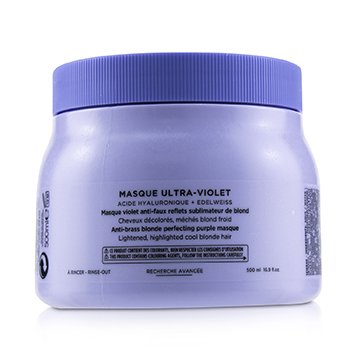 Blond Absolu Masque Ultra-Violet Anti-Brass Blonde Perfecting Purple Masque (Lightened Cool Blonde Hair) (500ml/16.9oz)