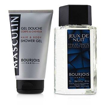 Masculin Coffret: Jeux De Nuit Eau De Toilette Spray 100ml/3.3oz + Hair & Body Shower Gel 150ml/5oz (2pcs)