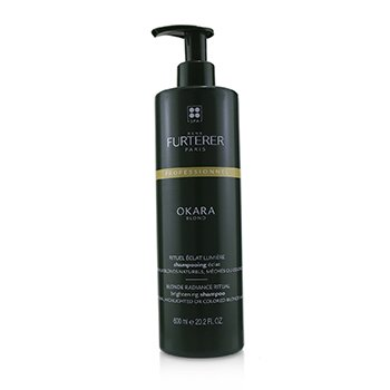 Okara Blond Blonde Radiance Ritual Brightening Shampoo - Natural, Highlighted or Colored Blonde Hair (Salon Product) (600ml/20.2oz)