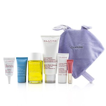 Maternity Set: Tonic Treatment Oil+ Stretch Mark Minimizer+Hydra-Essentiel Cream+ Body Scrub+ Eye Gel+ Lip Perfector+ Bag (6pcs+1bag)