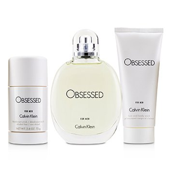 Obsessed Coffret: Eau De Toilette Spray 125ml/4oz + Hair And Body Wash 100ml/3.4oz + Deodorant Stick 75ml/2.6oz (3pcs)