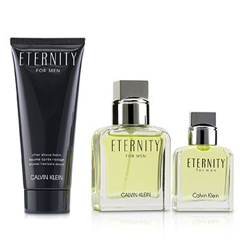 Eternity Coffret: Eau De Toilette Spray 30ml/1oz + Eau De Toilette Splash 15ml/0.5oz + After Shave Balm 100ml/3.4oz (3pcs)