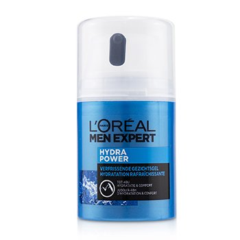 Men Expert Hydra Power Refreshing Face Gel To 48 Hours Hydration & Comfort (50ml/1.69oz)