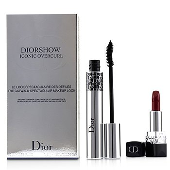 Diorshow Iconic Overcurl The Catwalk Spectacular Makeup Look Set (1x Mascara, 1x Mini Lipstick) (2pcs)