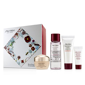 Benefiance WrinkleResist24 Set : Day Cream SPF15 50ml+Cleansing Foam 15ml+Softener 30ml+Ultimune Concentrate 5ml (4pcs)