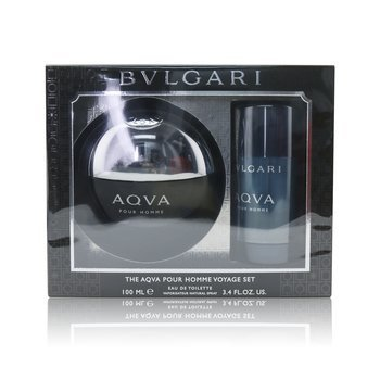 Aqva Pour Homme Coffret: Eau De Toilette Spray 100ml/3.4oz + Deodorant  Stick 75ml/2.7oz (2pcs)