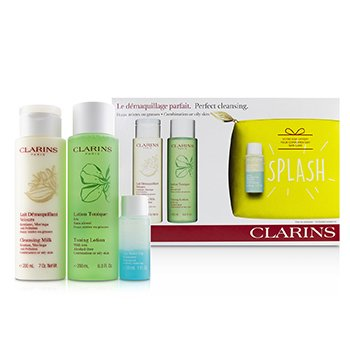 Perfect Cleansing Set (Combination or Oily Skin): Cleansing Milk 200ml+ Toning Lotion 200ml+ Eye Make-Up Remover 30ml+ Bag (3pcs+1bag)