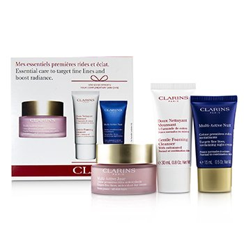 Multi-Active Essential Care Set: Multi-Active Jour 50ml+ Multi-Active Nuit 15ml+ Gentle Foaming Cleanser 30ml (3pcs)