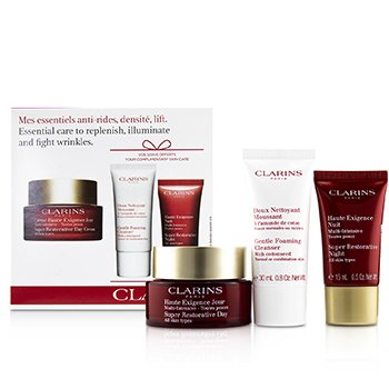 Super Restorative Essential Care Set: Day Cream 50ml/1.7oz + Night Cream 15ml/0.5oz + Gentle Foaming Cleanser 30ml/0.8oz (3pcs)
