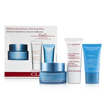 Hydra-Essentiel Skin Starter Kit: Silky Cream 50ml+ SOS Hydra Hydration Mask 15ml+ Gentle Foaming Cleanser 30ml (3pcs)