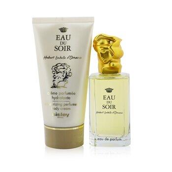 Eau Du Soir Coffret: Eau De Parfum Spray 100ml/3.3oz + Moisturizing Perfumed Body Cream 150ml/5.1oz (2pcs)