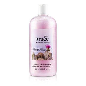 Pure Grace Desert Summer Shampoo, Bath & Shower Gel (480ml/16oz)