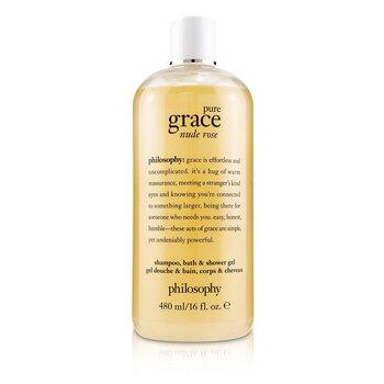 Pure Grace Nude Rose Shampoo, Bath & Shower Gel (480ml/16oz)