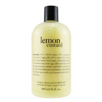 Lemon Custard Shampoo, Shower Gel & Bubble Bath (480ml/16oz)