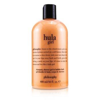 Hula Girl Shampoo, Shower Gel & Bubble Bath (480ml/16oz)