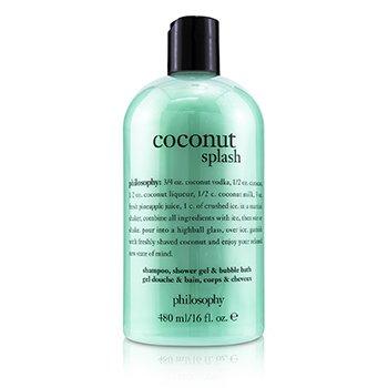 Coconut Splash Shampoo, Shower Gel & Bubble Bath (480ml/16oz)