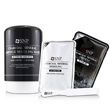 Charcoal Mineral Ampoule Modeling Mask (Pore Control & Soothing) (10x25ml/0.84oz)