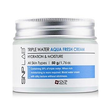 Lab+ Triple Water Aqua Fresh Cream - Hydration & Moisture (For All Skin Types) (50g/1.76oz)