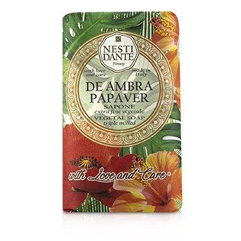 Triple Milled Vegetal Soap With Love & Care - De Ambra Papaver (250g/8.8oz)