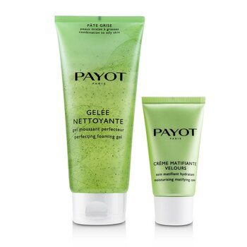 Pate Grise Anti-Imperfections Coach Kit : 1x Foaming Gel 200ml + 1x Moisturising Matifying Care 50ml (2pcs)