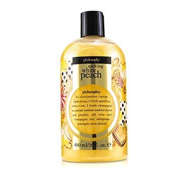 Sparkling White Peach Shampoo, Shower Gel & Bubble Bath (480ml/16oz)
